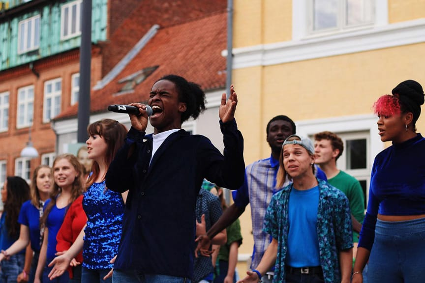 Up with People study abroad students perform in Europe