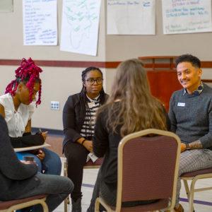 group talking