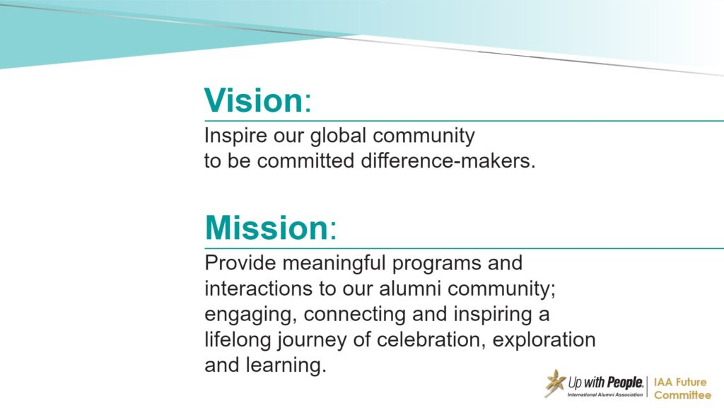 New Vision and Mission Statement of the UWPIAA